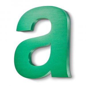 Anodised green built up letter