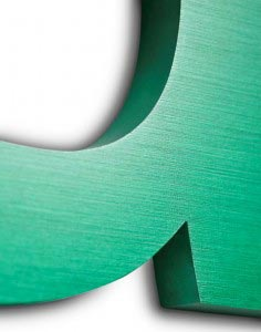 anodised green effect