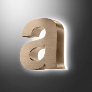 halo fabricated letter
