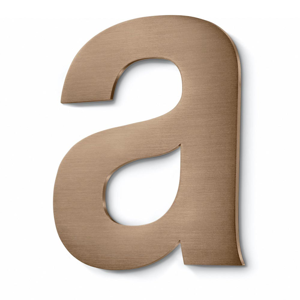 bronze fabricated letter