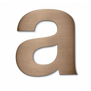 bronze brushed built up letter