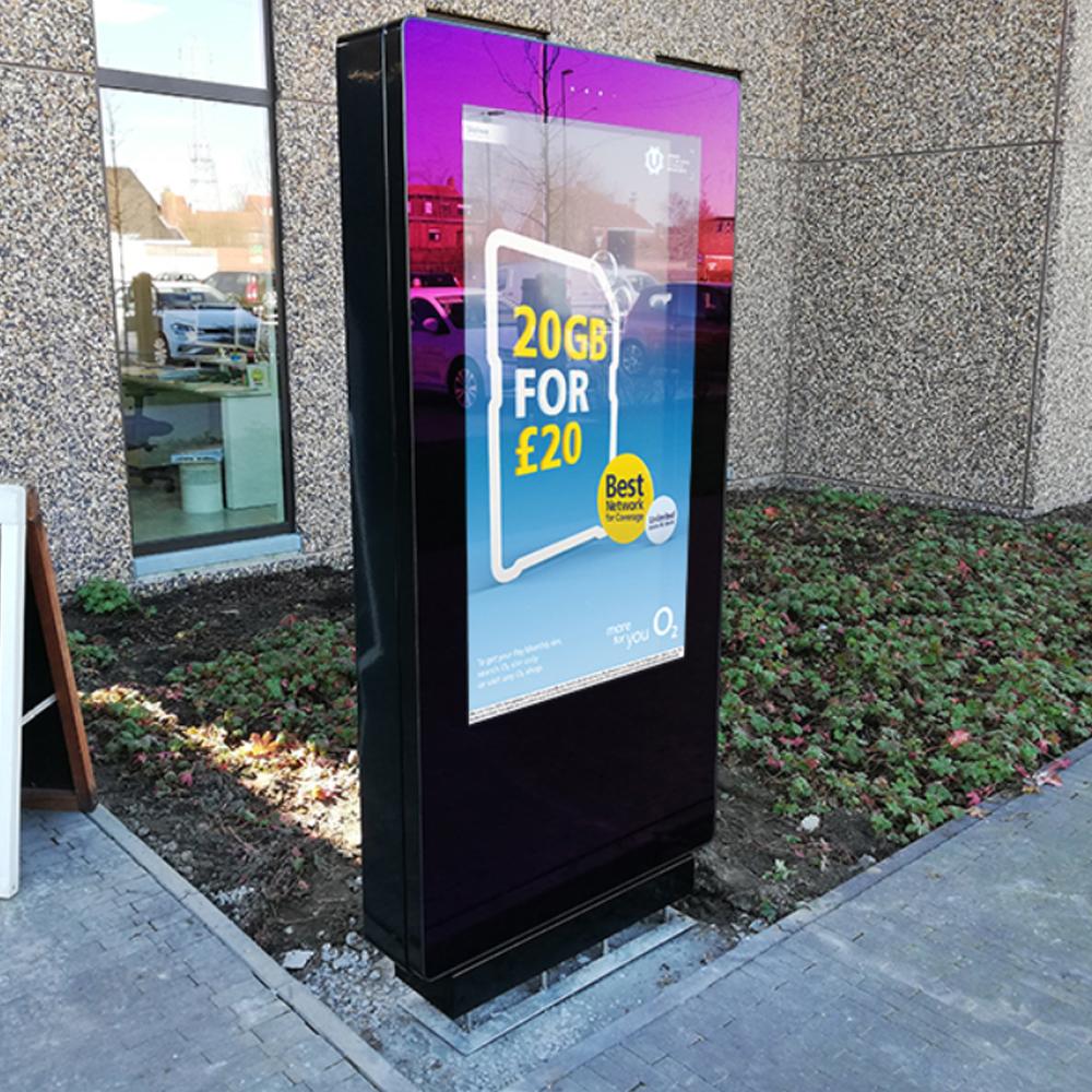 Digital outdoor advertising screen