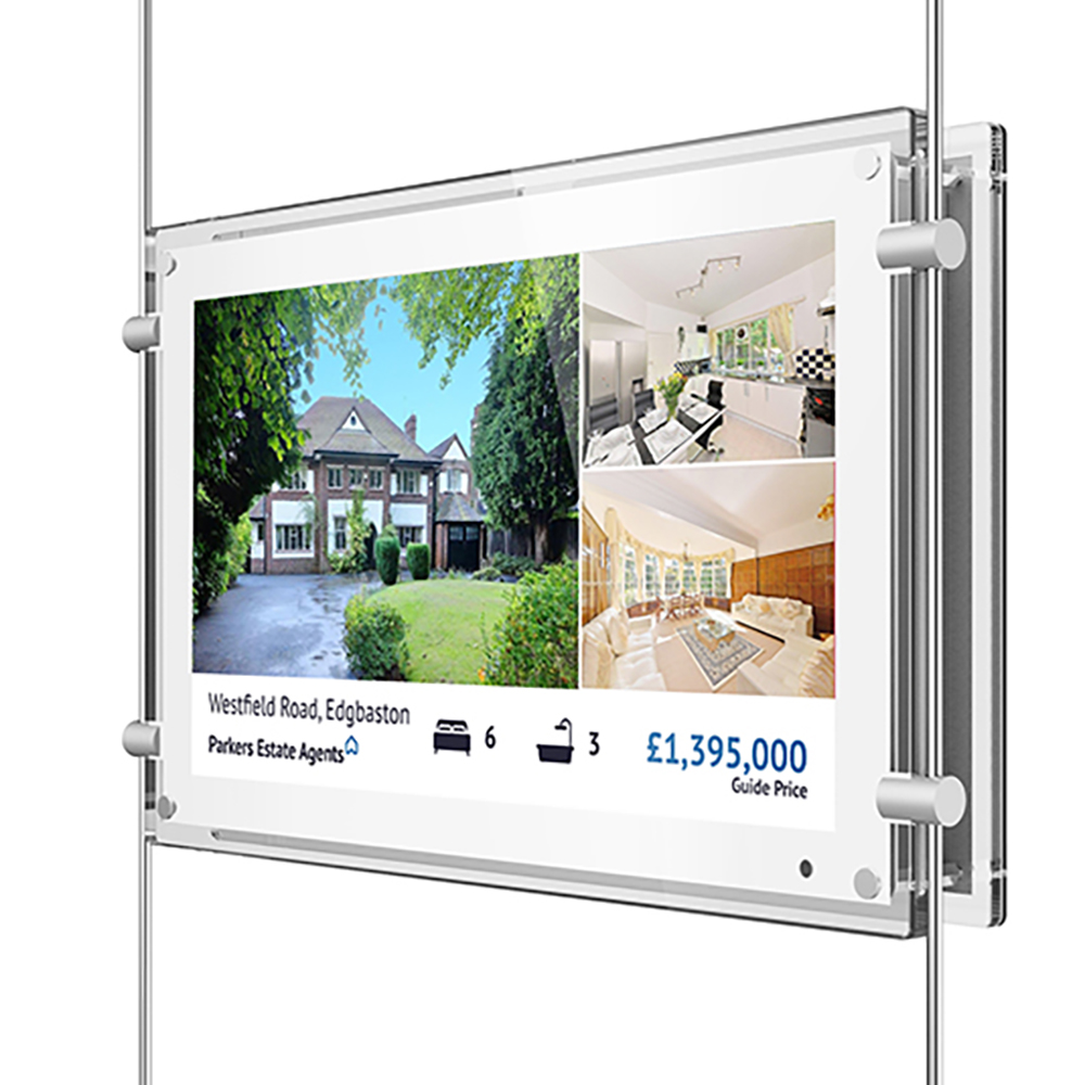 Digital Advertising Screen Rod Display