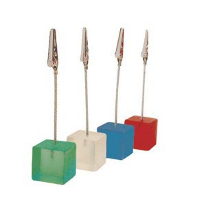 Colourful acrylic cube tabletop display