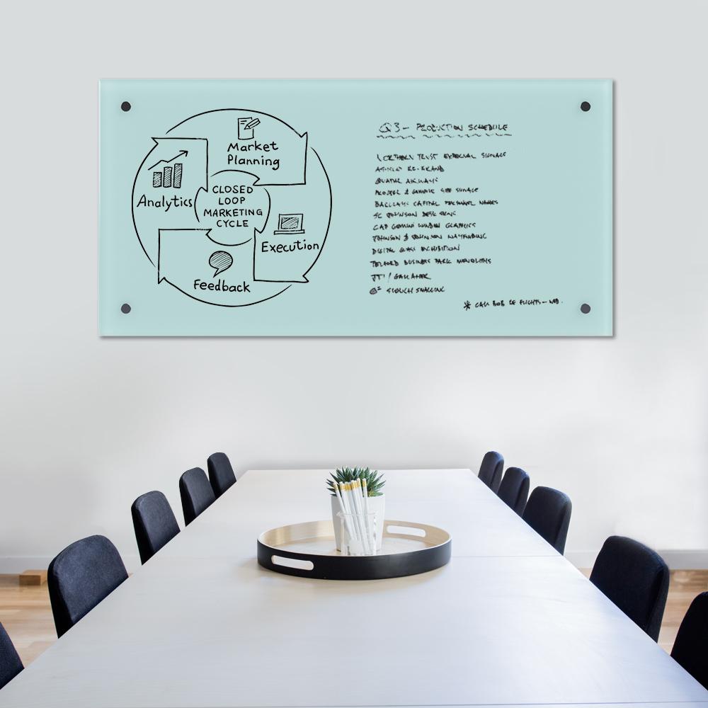 Glass Dry Wipe Whiteboard Doodleglass - 1500 x 750mm