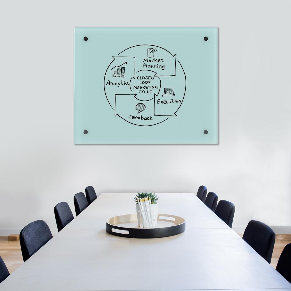 Glass Dry Wipe Whiteboard Doodleglass - 970 x 790mm