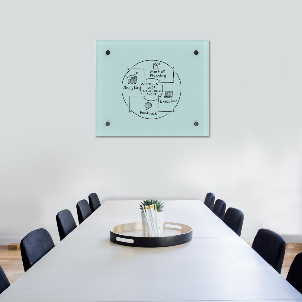 Glass Dry Wipe Whiteboard Doodleglass - 725 x 615mm
