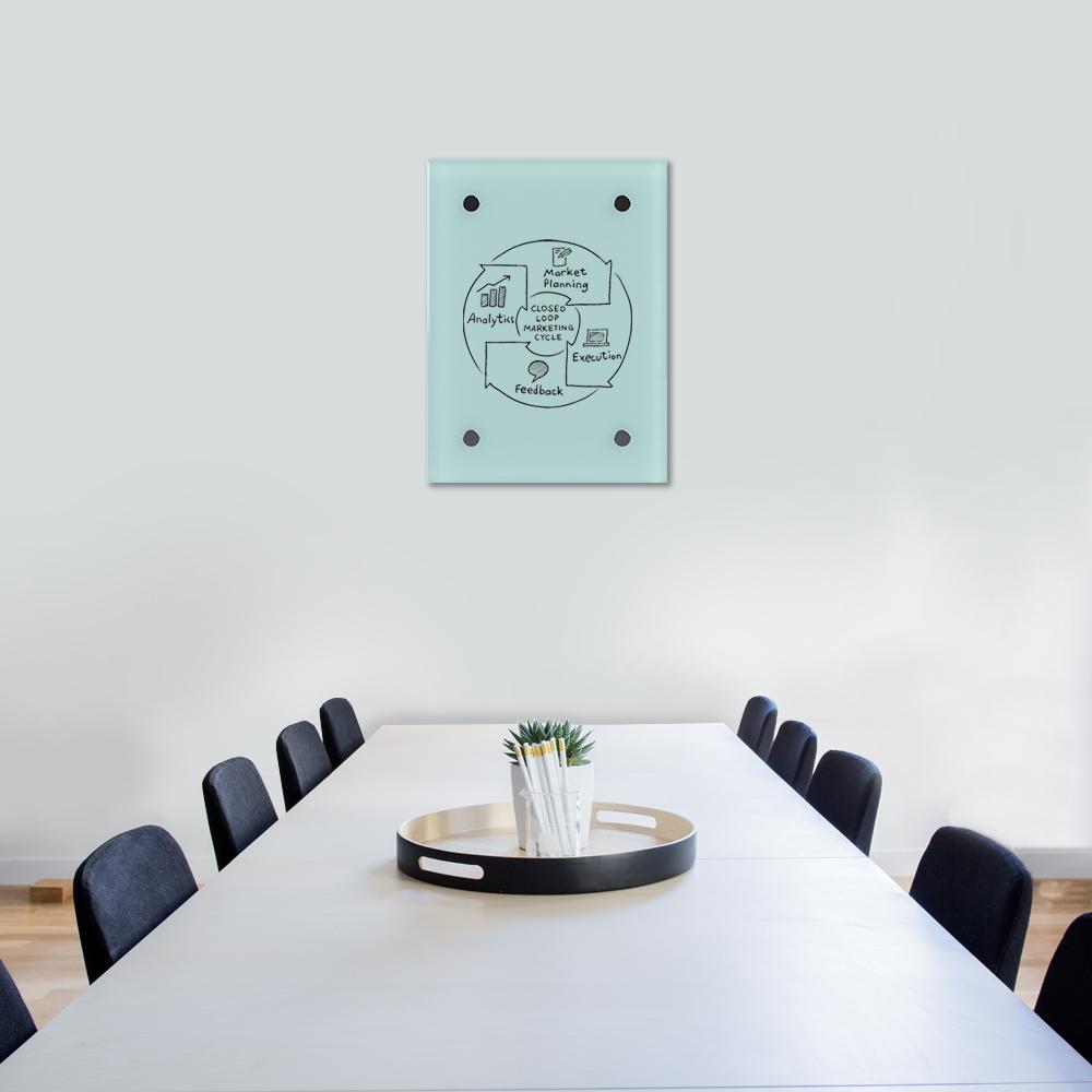 Glass Dry Wipe Whiteboard Doodleglass - 550 x 430mm