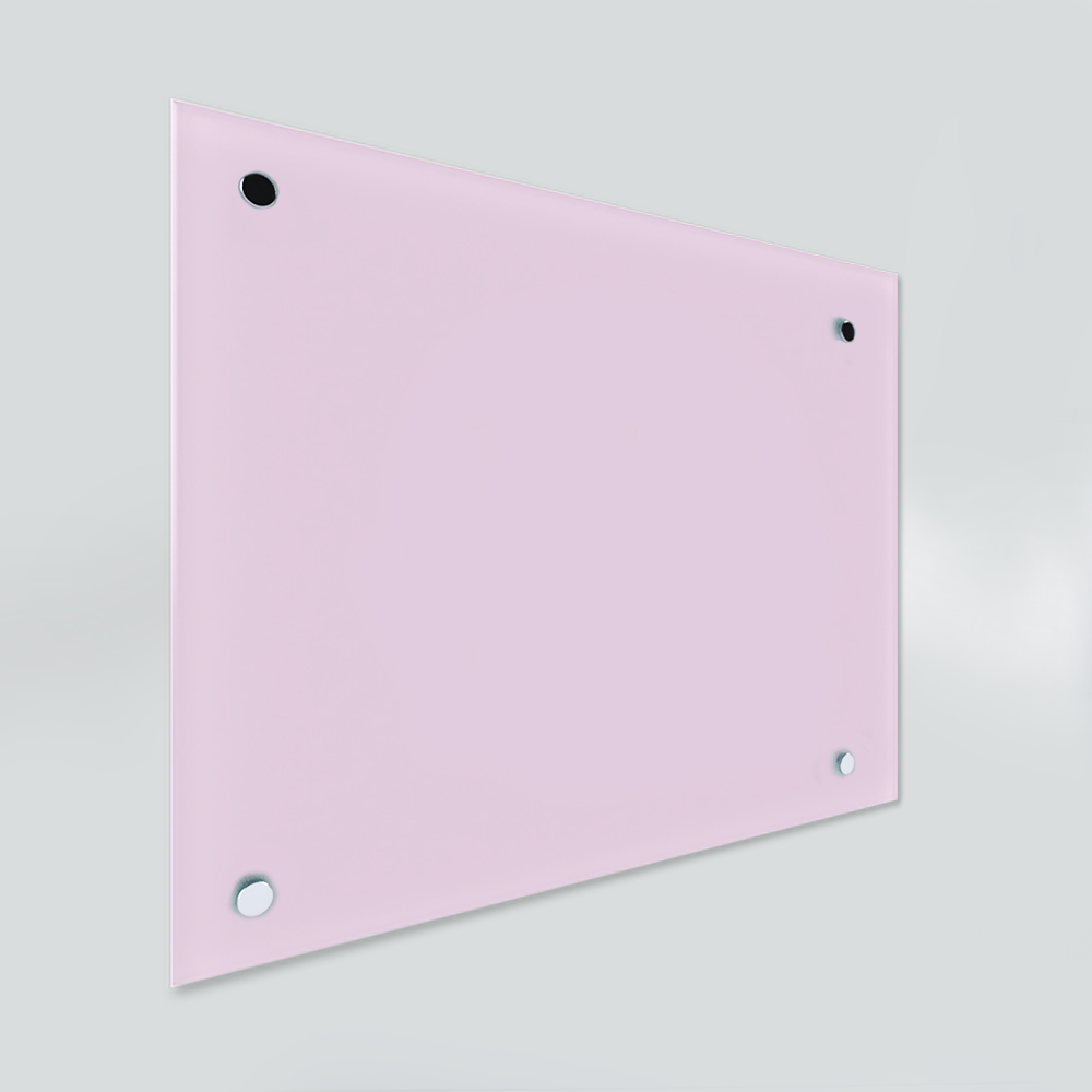 Glass Dry Wipe Whiteboard Doodleglass - Pastel Pink