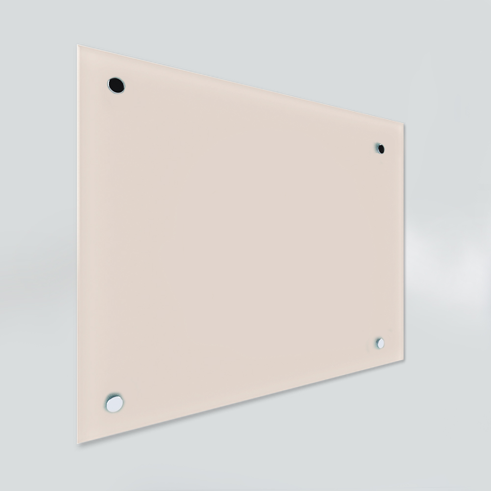 Glass Dry Wipe Whiteboard Doodleglass - Pastel Peach