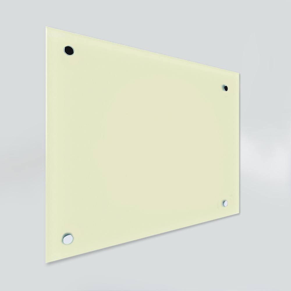 Glass Dry Wipe Whiteboard Doodleglass - Pastel Yellow