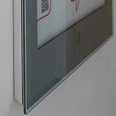 Outdoor Enlighten NFC Smart poster display - silver mount