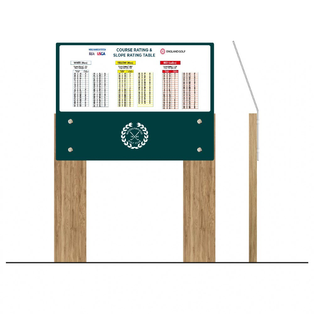 Hybrid lectern style information sign - Golf course sign