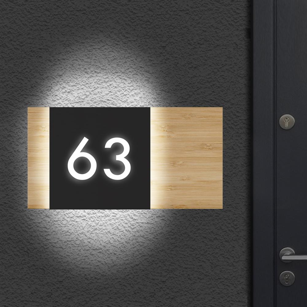 Illuminated House Number Sign