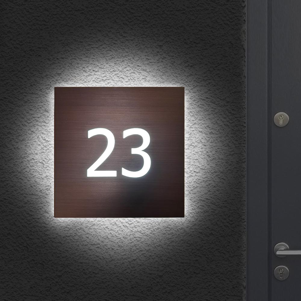 Illuminated House Sign Number