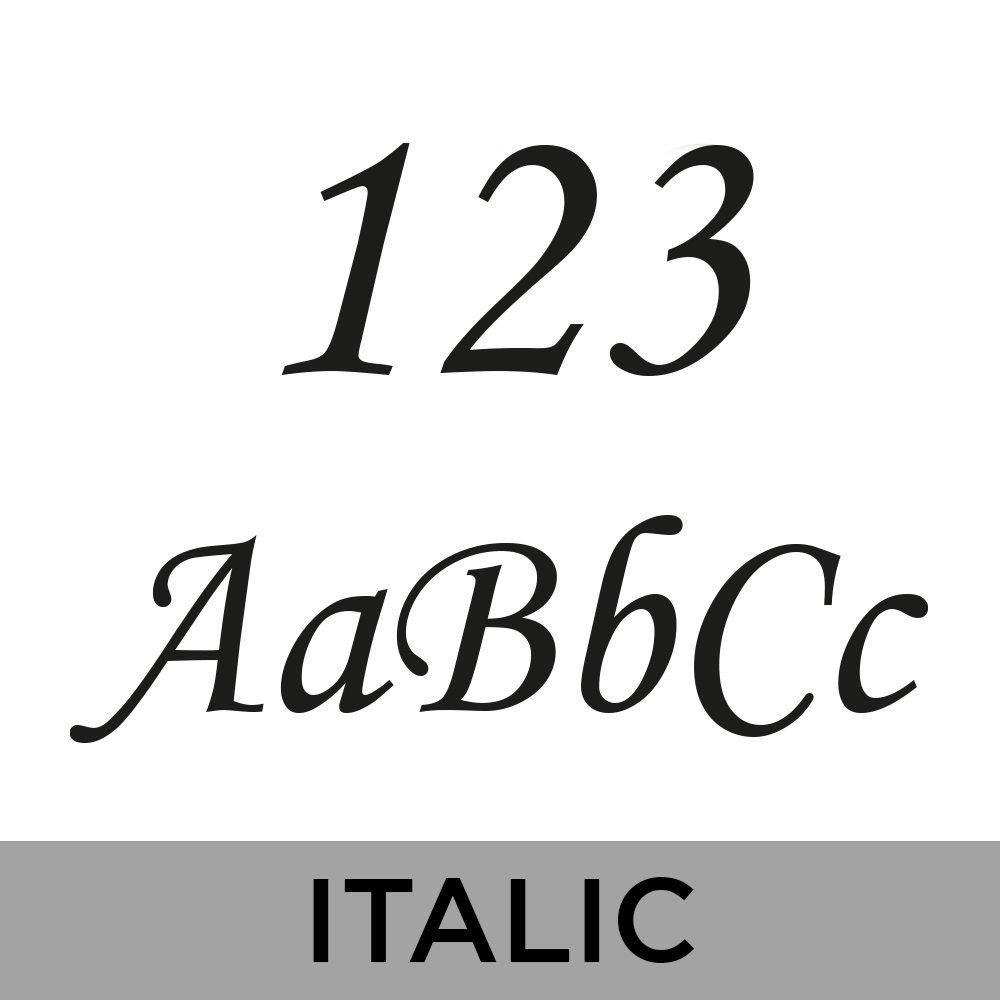 Bamboo House Sign - Italic Font
