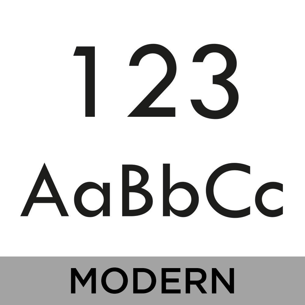 Bamboo House Sign - Modern Font