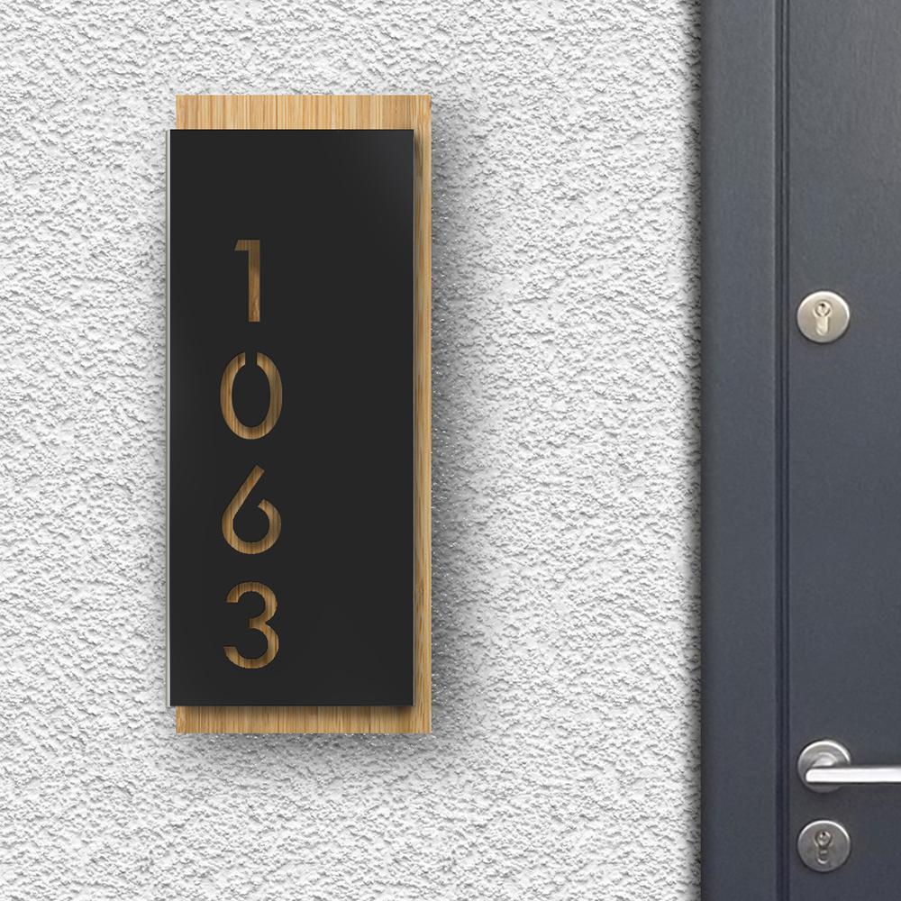Modern House Sign - Black front panel