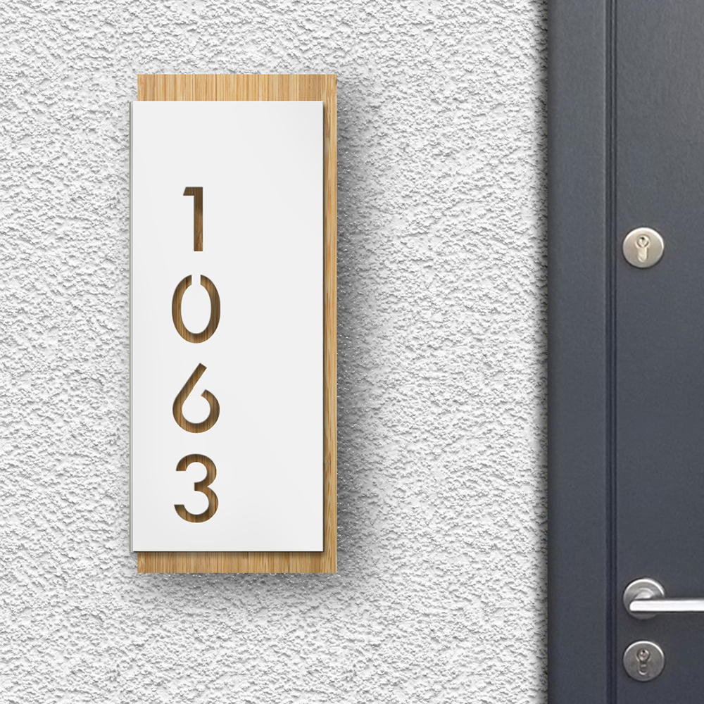 Modern House Sign - White front panel