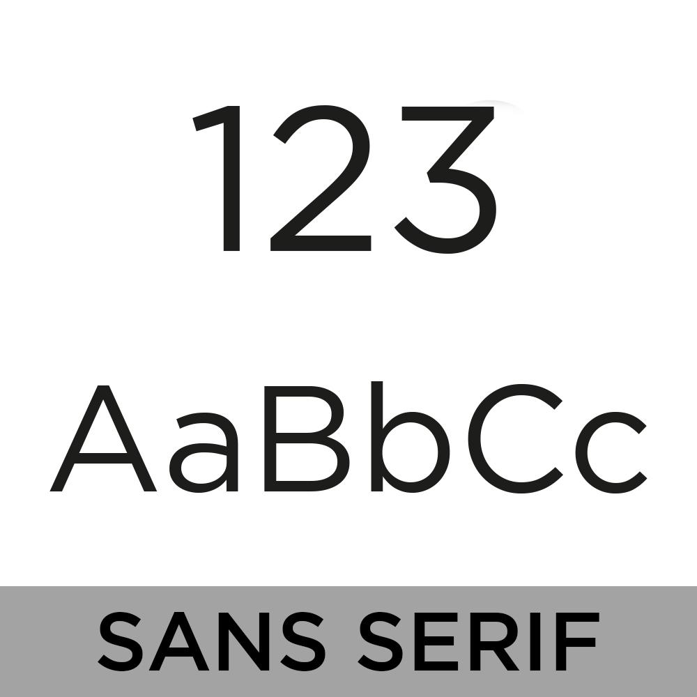 Bamboo House Sign - Sans Serif Font