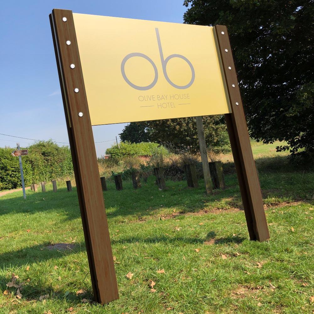 Illuminted  sustainable signage system