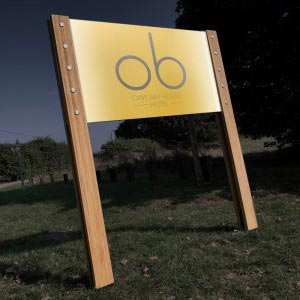 Illuminted  sustainable signage system