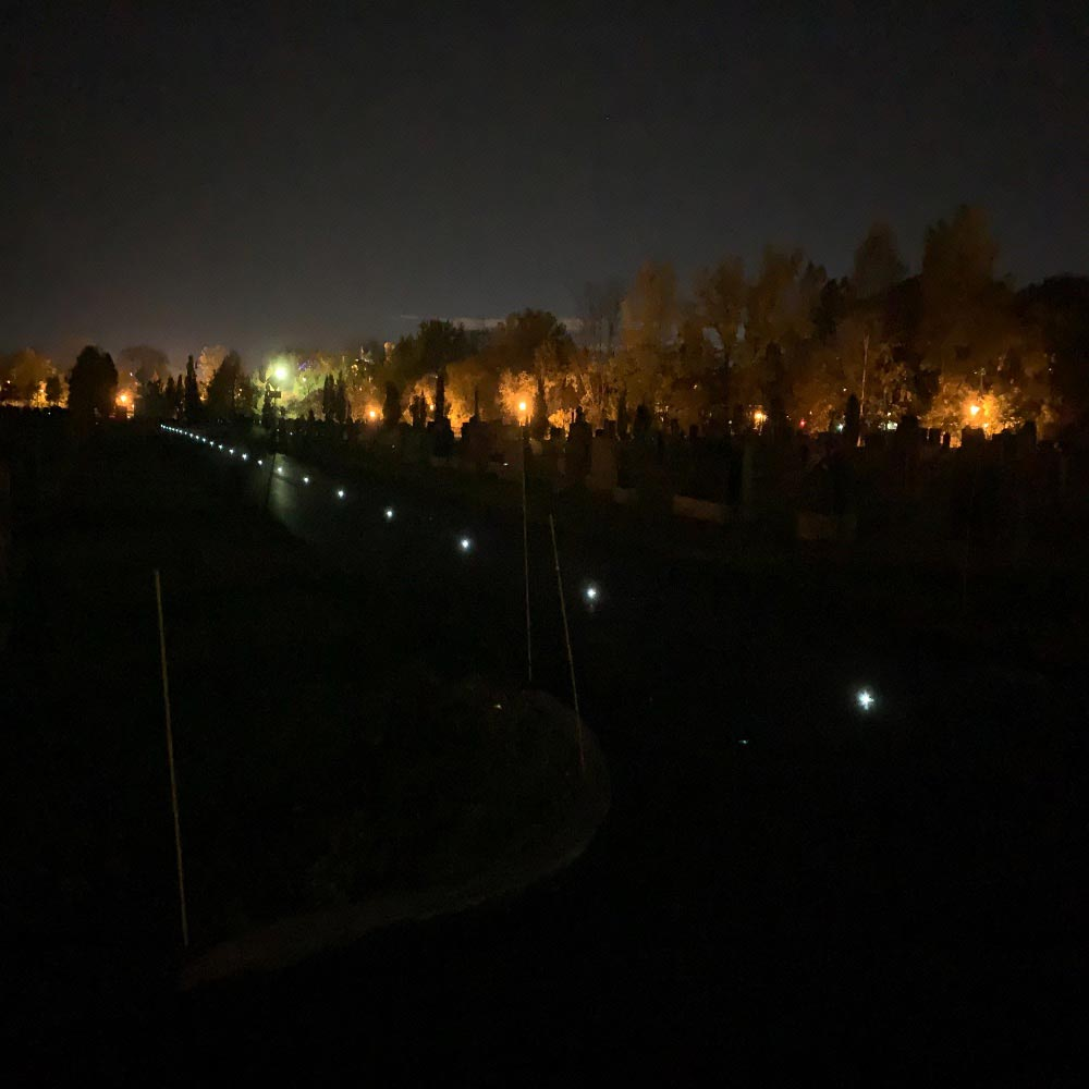 Solar Powered LED pathway delineation light
