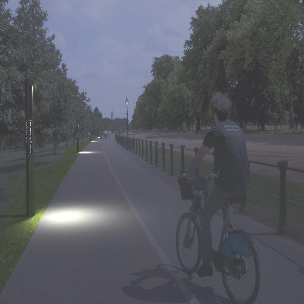 solarpost illuminated sign street