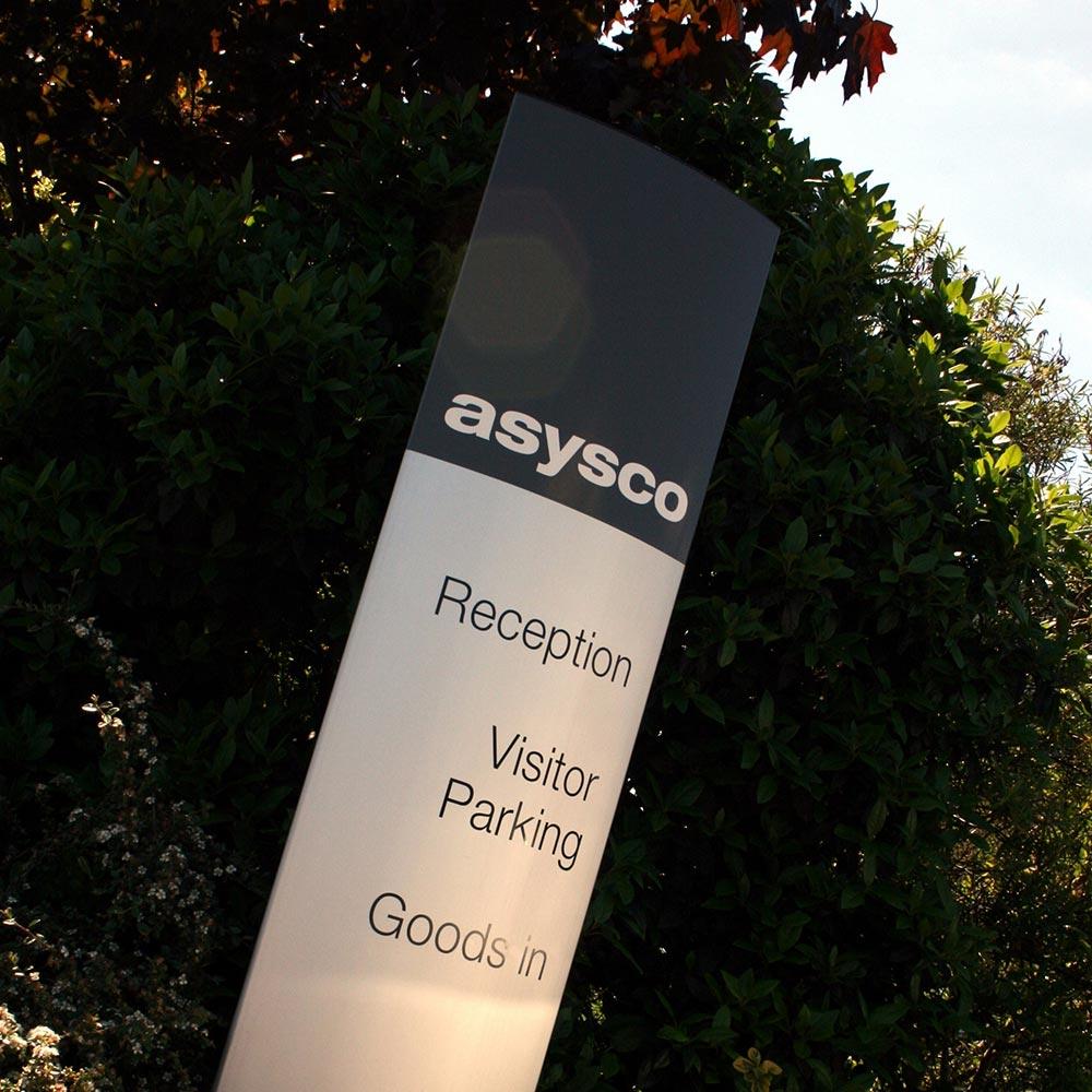 exterior wayfinding sign