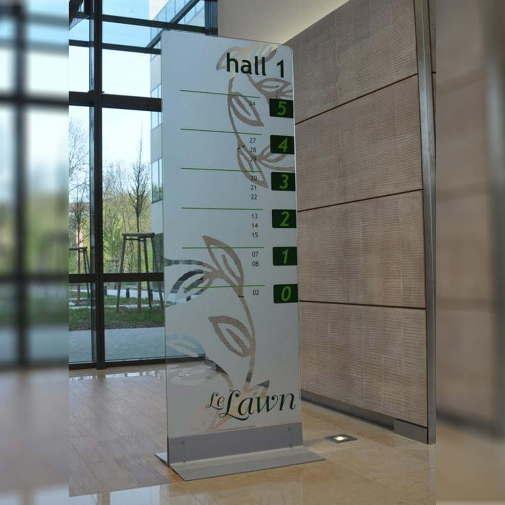 Freestanding Glass Information Sign with Digital Print Option