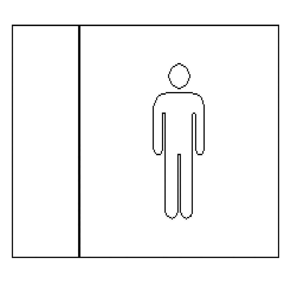 Male - LED Illuminated automatic washroom toilet sign