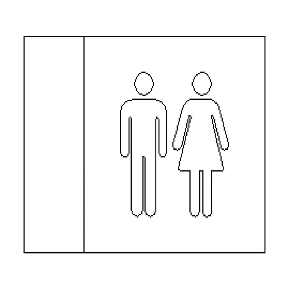 Male + Female -LED Illuminated automatic washroom toilet sign