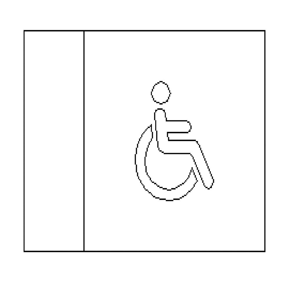 Disabled - LED Illuminated automatic washroom toilet sign