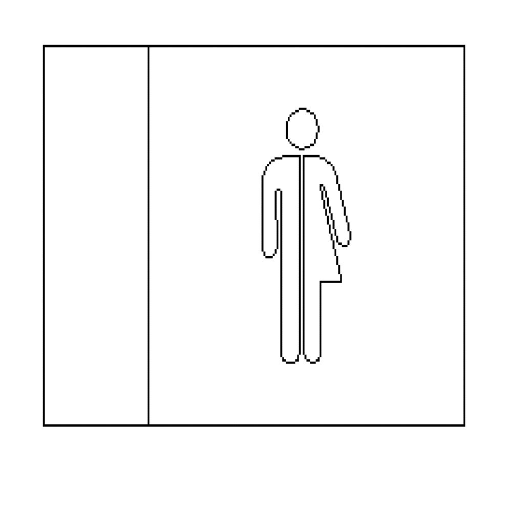 Gender Neutral - LED Illuminated automatic washroom toilet sign