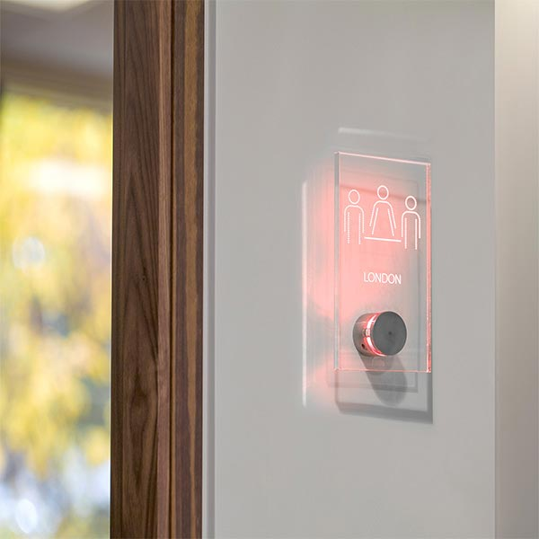 Vacant / engaged LED illuminated room sign