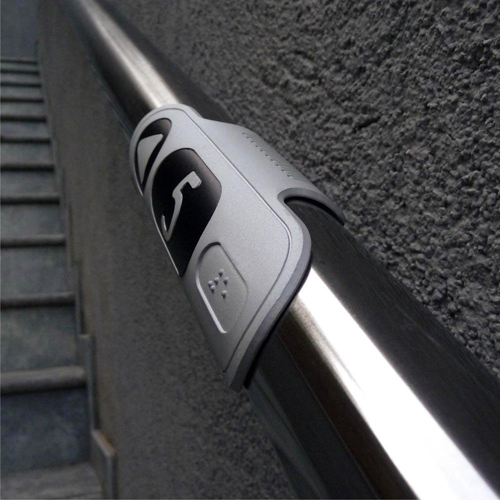 Braille Wayfinding Stair Handrail Sign