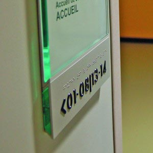 DDA Compliant Braille sign graphic sign paper insert glass