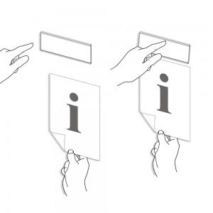 Paper Insert Clip Sign System - Easily Updatable