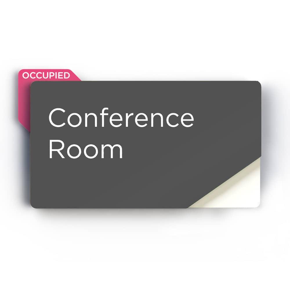 Sliding Meeting Room Sign - Grey Finish