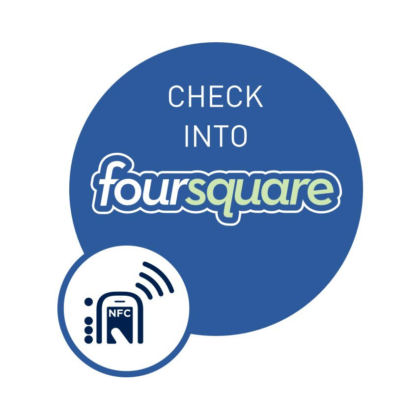 NFC smart sticker Check into Foursquare