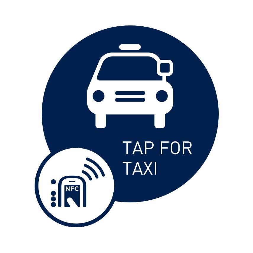NFC smart sticker Tap for Taxi
