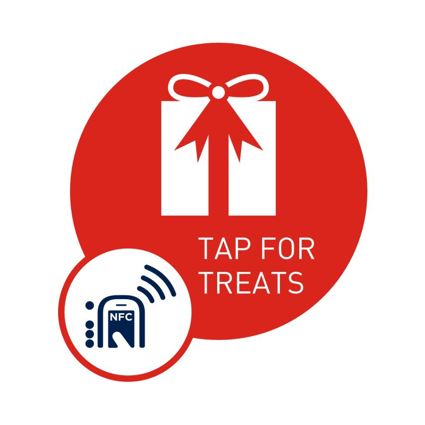 NFC smart sticker Tap for Treats