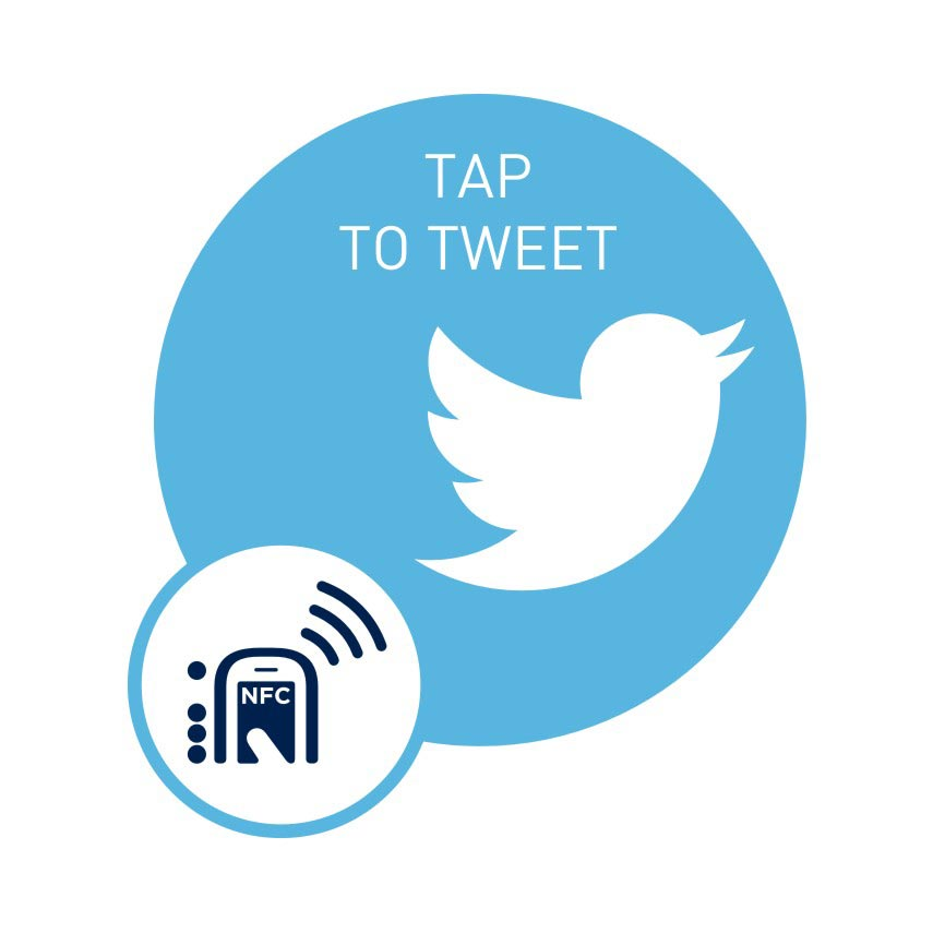 NFC smart sticker Tap to Tweet