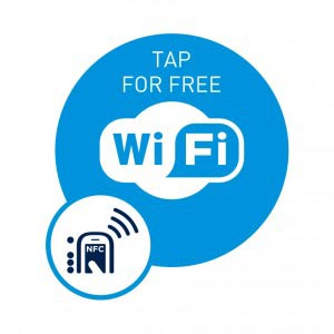 Tap for Free Wifi, NFC Smart Tag