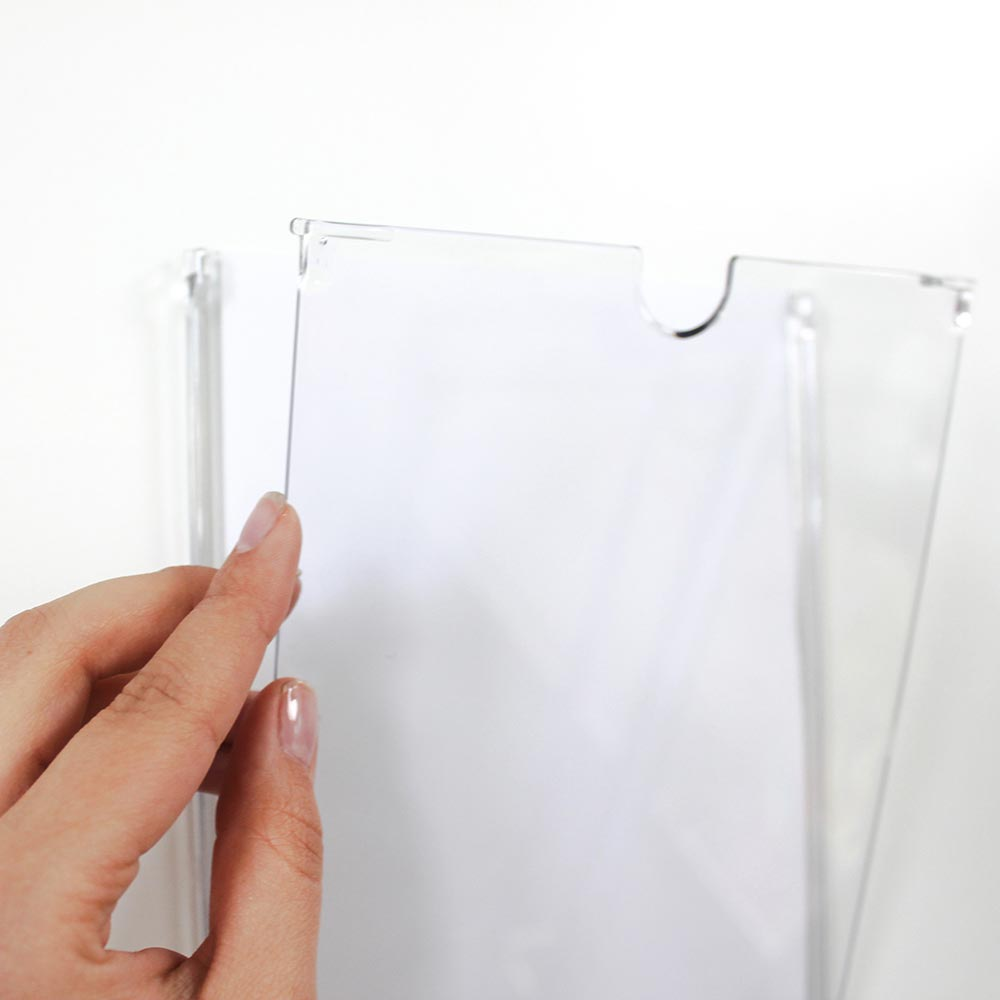 FLAP - Information Frame Pocket - Paper Insert Sign-Ggraphic trap