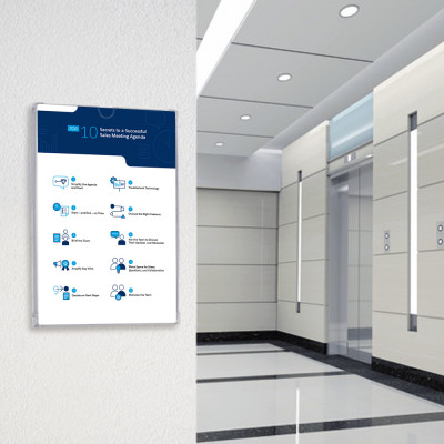 Information Display Frame Pocket - Paper Insert Sign - Graphic Trap