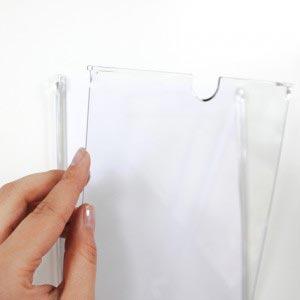 FLAP - Information Frame Pocket - Paper Insert Sign-Ggraphic trap