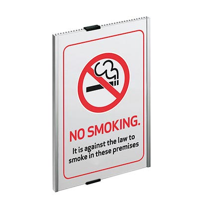 No smoking paper insert sign