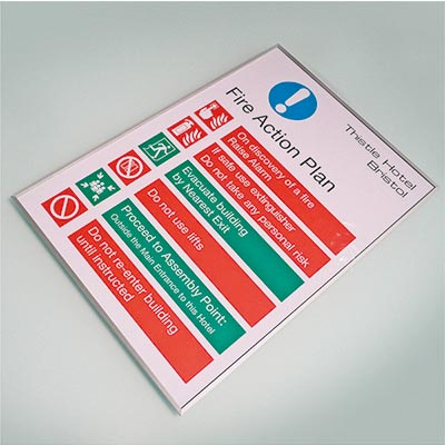 Wayfinding signage for doors and walls