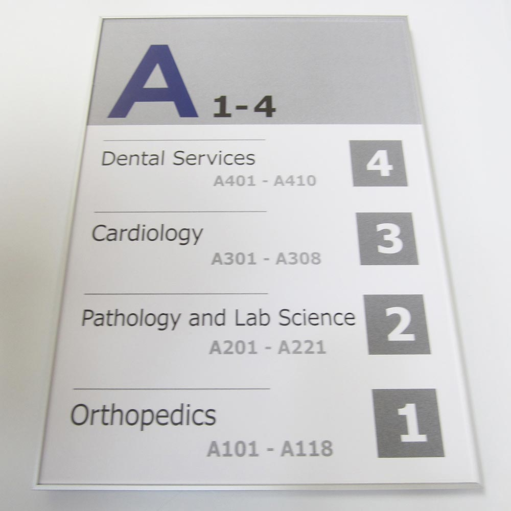 Directory paper insert sign